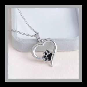 Jewelry - Heart Shaped Paw 🐾 Print Necklace